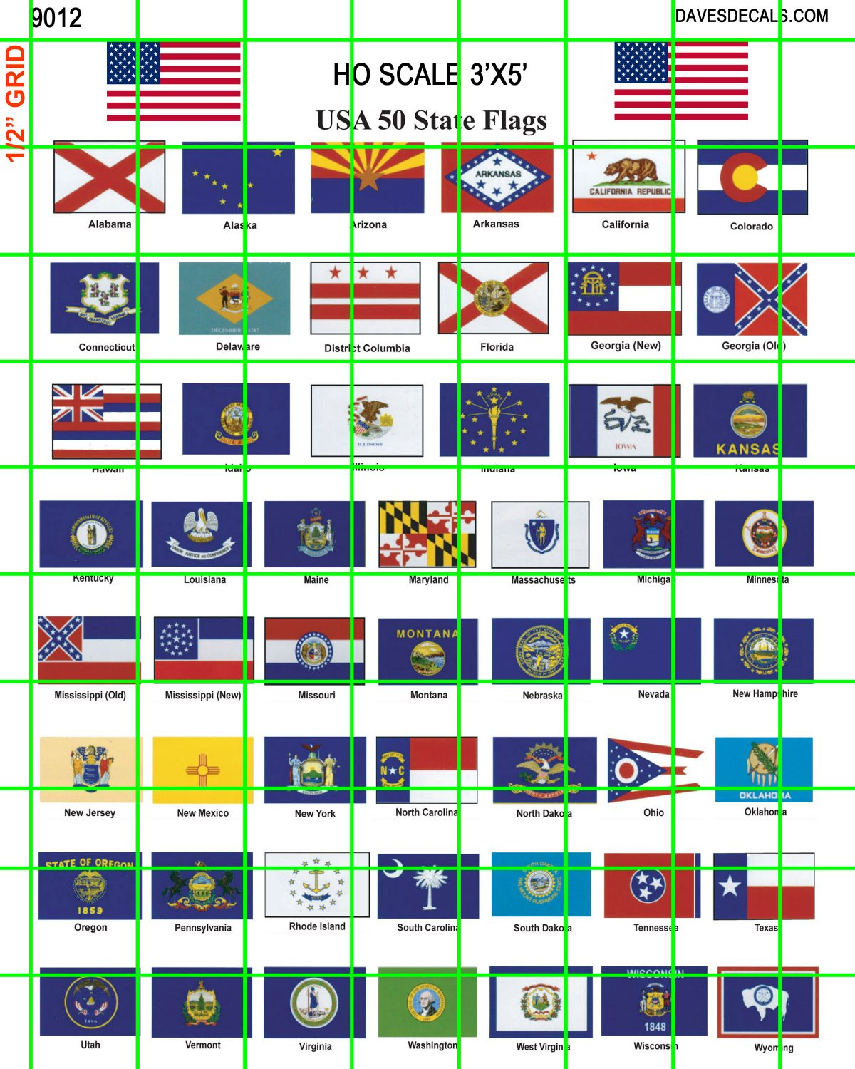 9012 misc signage united states state flags dave s decals