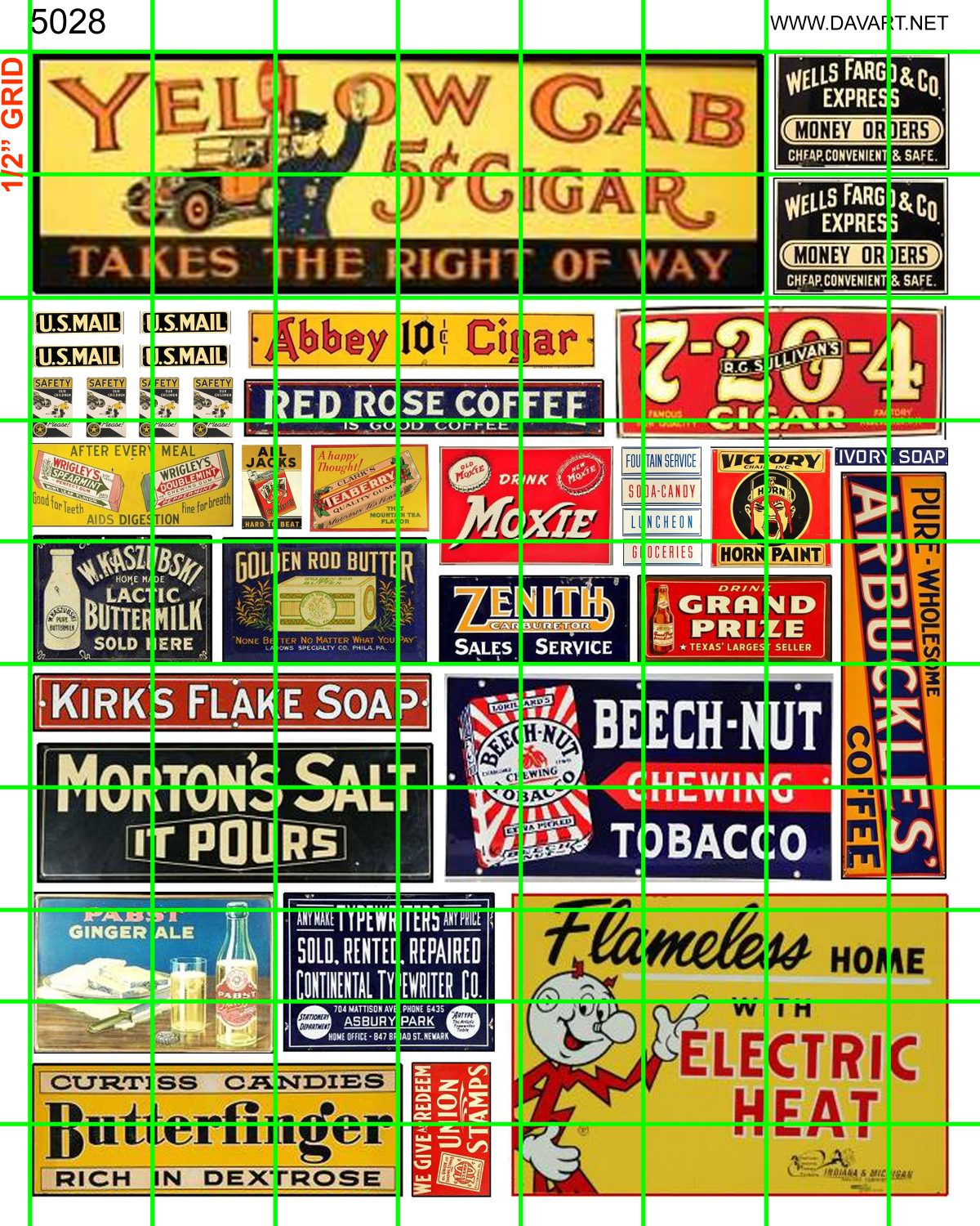 5028 BUSINESS/PRODUCTS - YELLOW CAB CIGARS, BEECH NUT, REDDY ELECTRIC,  BUTTERFINGERS, MORTON'S SALT MORE