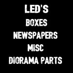 LED'S, BOXES, NEWSPAPERS, ETC